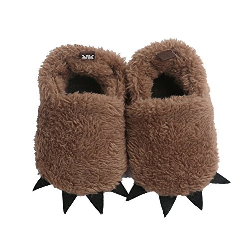 Vanbuy Baby Boys Girls Shoes Bear Paw Animal Slippers Boots Newborn Infant Crib Shoes WB28-Brown-L ()