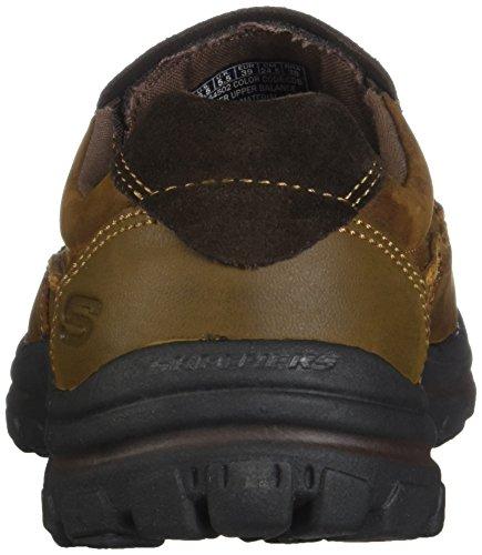 Skechers Heren Moediger Rayland Slip-on Loafer Donkerbruin