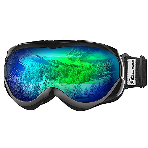 OutdoorMaster Kids Ski Goggles Helmet Compatible Snow Goggles for Boys & Girls with 100% UV Protection