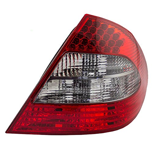 (Passengers Taillight Tail Lamp with Smoked Backup Lens Replacement for 07-09 Mercedes-Benz E-Class Sedan 2118202664)