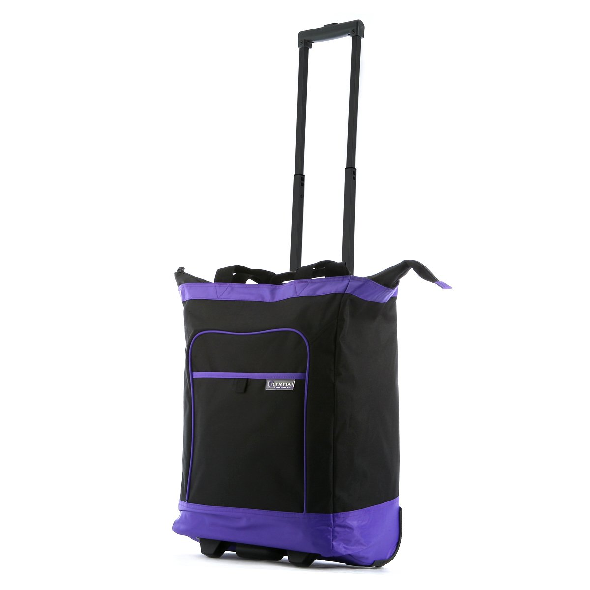 Olympia Luggage Rolling Shopper Tote, Purple, One Size