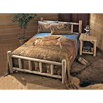 CASTLECREEK Cedar Log Bed Full