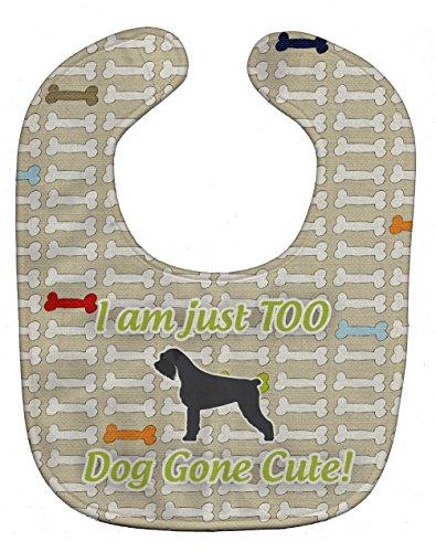Schnauzer Giant Breed (Caroline's Treasures Dog Gone Cute Baby Bib, Giant Schnauzer, Large)