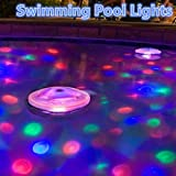 Pack of 2 Water Light Show SPA Bath Tub Swim Pool Lamp Floating Bulb for Child Baby's Floating Lights Pool Toys