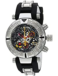 Womens Disney Limited Edition Swiss Quartz Stainless Steel and Silicone Casual Watch, Color