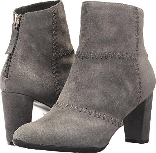 gray suede dress boots - 6