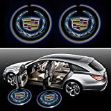 Beon Pack of 2 Cadillac Logo Wireless LED Car Door Light
