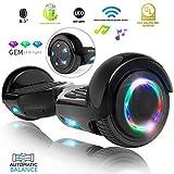 "XPRIT 6.5"" Wheel Hoverboard w/Bluetooth, Flash Wheel (Black)"