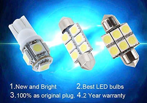 SEALIGHT H8 H16 Led Fog Bulbs Lamps High Power 6CSP Led Chips,6000K White Pack Of 2 H11 Led Fog Lights