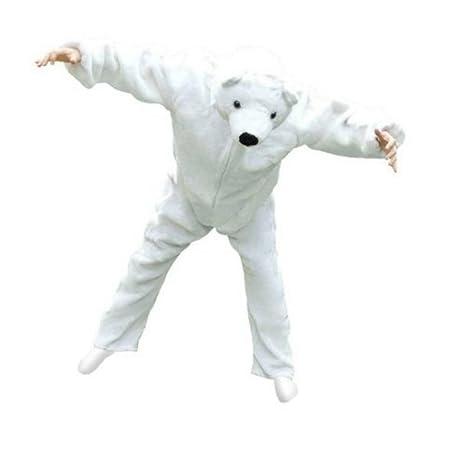 Eisbär-Kostüm, F24 Gr. XL, für hoch gewachsene Männer und Frauen, Eisbären-Faschingskostüm, für Fasching Karneval Fasnacht, K