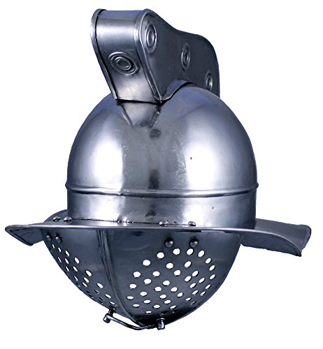 Gladiator Helm (RedSkyTrader Mens Steel Plume Gladiator Helm One Size Fits Most Metallic)