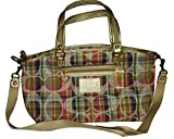 Coach Daisy Madras Large Satchel Convertible Crossbody Purse Bag 23389 Multi