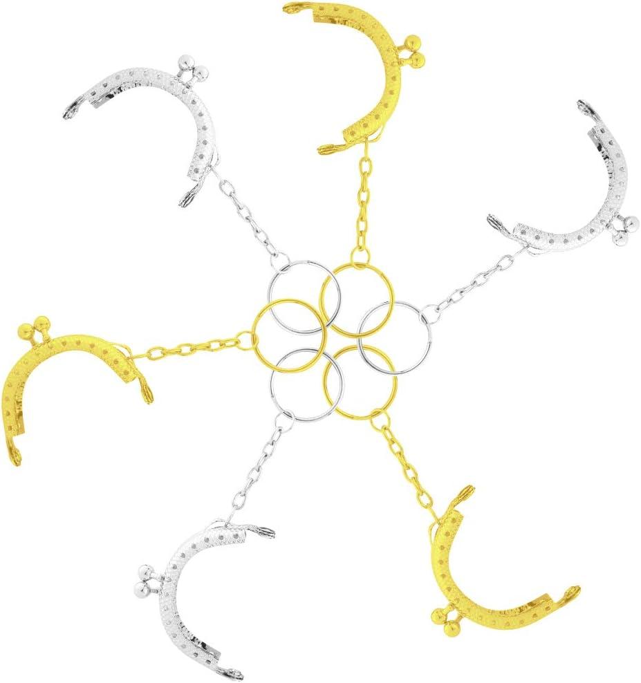 Demine Manualidades 6 llaveros de Metal con Cierre de mosquet/ón para Llaves de casa joyer/ía Manualidades