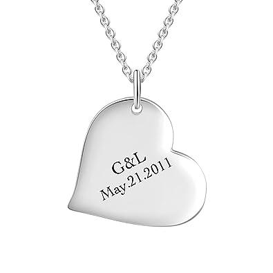042077966591 SOUFEEL Collar Plata de Ley Colgante Corazón Mujer con Nombre o Fecha  Personalizados Regalo para Familia Pareja Madre Cadena Más Extención   Amazon.es  ...