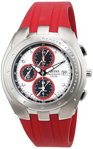 Pulsar Rubber Watch - Pulsar Men's Quartz Watch Analogue Display and Rubber Strap PF3671X1