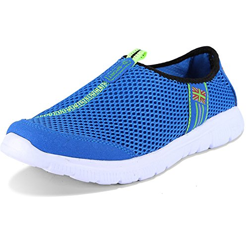 Führershow TM Männer Ultra-Light Fashion Leichte Beach Athletic Sneakers Sommer & Herbst Breathable Casual Sandalen Laufsport Mesh-Schuhe Dunkle Bule