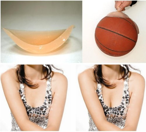 HuaYang Strapless Backless Lingerie Silicone Gel Self-Adhesive Nu Bra(Cup D )