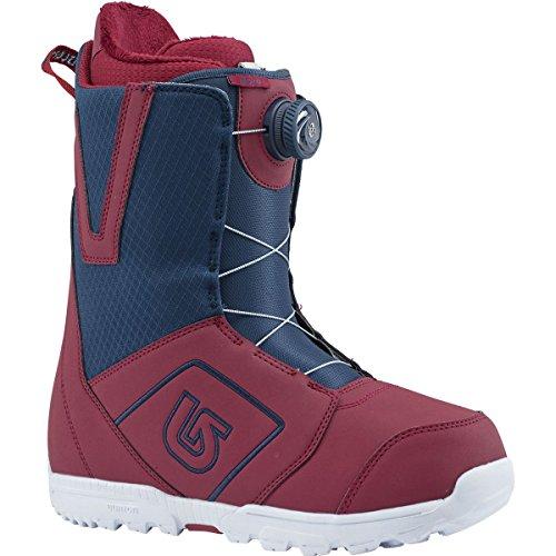 Burton Moto Boa Snowboard Boot 2018 - Men's Maroon/Blue (Blue Mens Snowboard Boots)