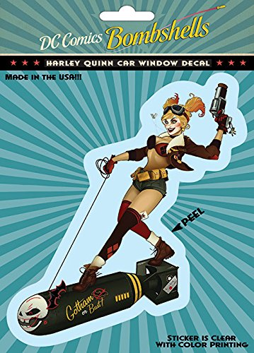 DC+Comics Products : DC Comics ST DCBS HQ2 Car Window Decal (DC Bombshells DC Bombshells Harley Quinn)