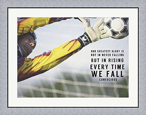 Rising Everytime We Fall by Sports Mania Framed Art Print Wall Picture, Flat Silver Frame, 36 x 28 inches by Great Art Now