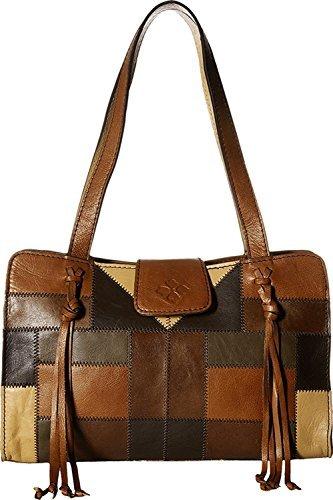 Patricia Nash Women's Rienzo Satchel Zigzag Stitch Patchwork Handbag