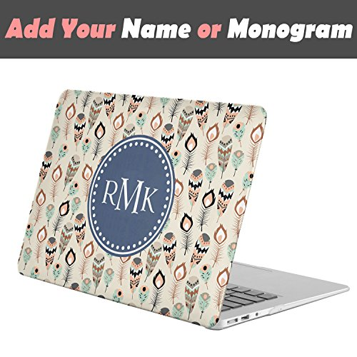[ Personalized Monogram Name FULL BODY Hard Case ][ Apple MacBook Pro 13-inch (Model: A1706/A1708) with / without Touch Bar (Released Oct 2016) ] - Vintage Indian - Models Pictures Names And Indian