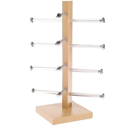 4 Layers Singe Row DIY Demountable Sunglasses Sunglass Rack Holder Glasses Display Stand Shelf