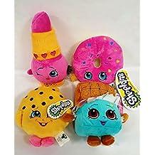 Shopkins Plush set - Donut, Chocolate, Cookie & Lippy Lips 7