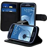 kwmobile Elegant synthetic leather case for the Samsung Galaxy S3 Mini with magnetic fastener and stand function in black