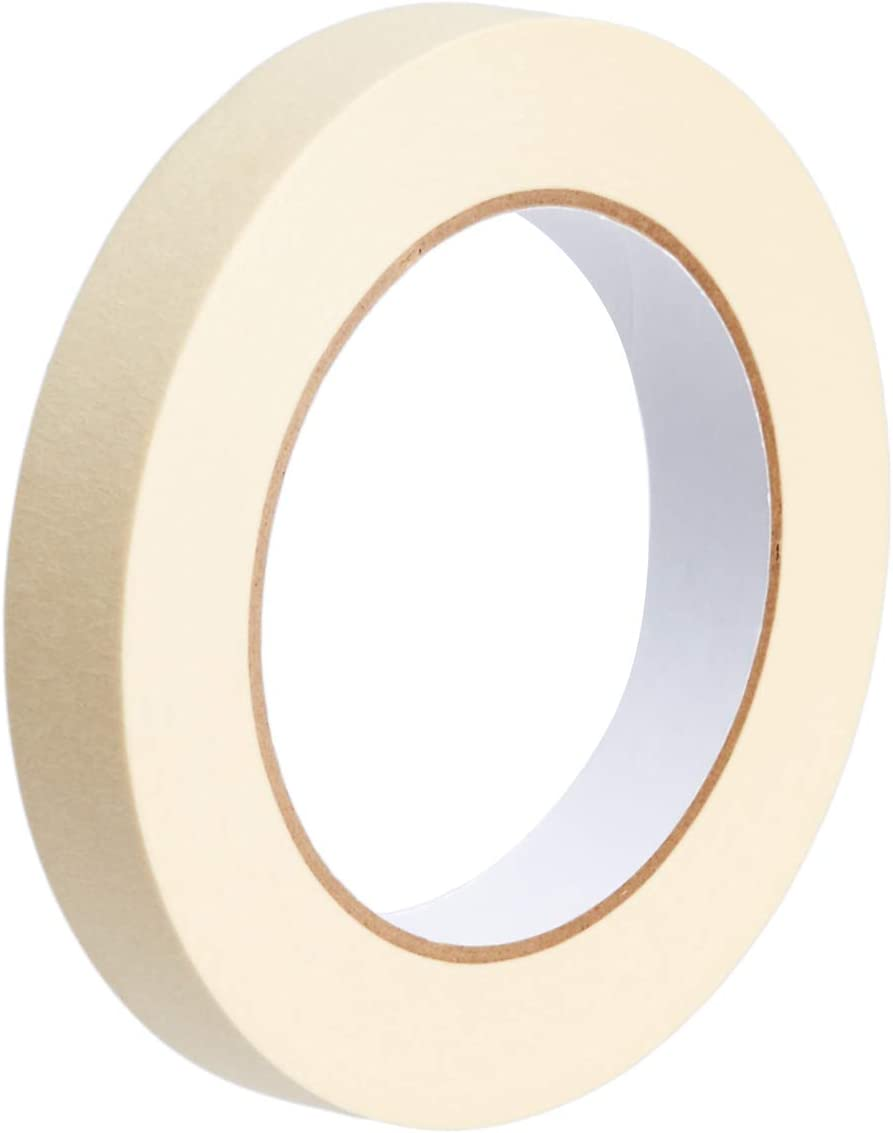 Amazon Basics Masking Tape - 0.75 Inch x 180 Feet, 3 Rolls