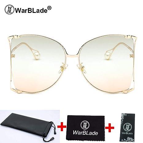 Amazon.com: 2018 Pearl Decoration - Gafas de sol para mujer ...