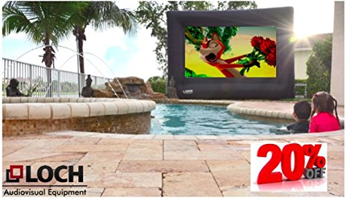 SUPREME LOCH IWS200. Inflatable Projection Screen (24 Foot Diagonal Total View Area 200