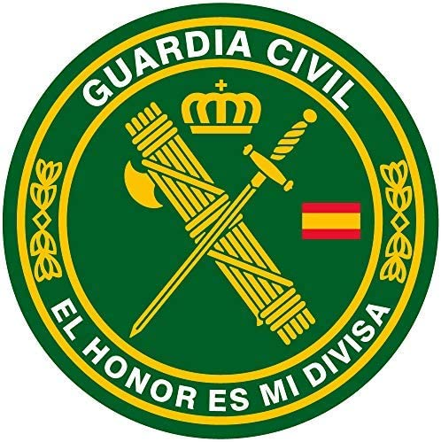Artimagen Pegatina círculo Guardia Civil El Honor es mi divisa ø 50 mm/ud.:  Amazon.es: Coche y moto