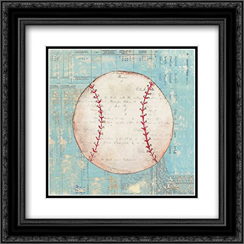 - Play Ball I 15x15 Black Ornate Frame and Double Matted Art Print by Prahl, Courtney