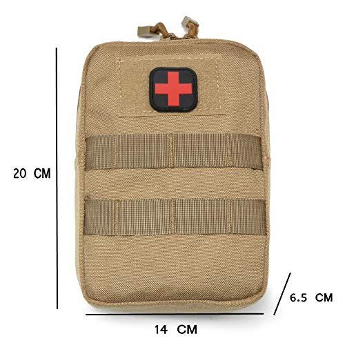 Wwman 1000D Nylon Extérieur Camping Tactique Militaire Sac de Premiers Trousses de Secours Molle 5
