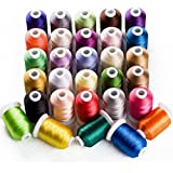 Sinbel Polyester Embroidery Machine Thread Bright and Beautiful Colors for Brother Babylock Janome Singer Pfaff Husqvarna Bernina Machines (1100Y, 30C)