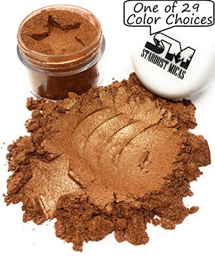 Stardust Micas Metallic Mica Pigment Powder Cosmetic Grade for Soap Making, Epoxy Resin, Makeup, Coloring Slime, Bright True Colors Stable Mica Colorant Bronze Age -