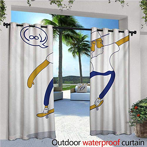 Indie Outdoor Privacy Curtain for Pergola Cool Hipster Old M