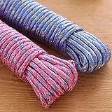 MENAGE Clothes Nylon Braided Cotton Rope (20 m, Multicolour) (2)
