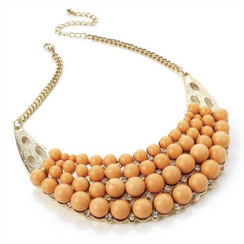 Pêche Perle Lune Or Mesdames Déclaration Fashion Collier