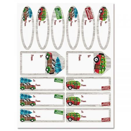 Camping Christmas Gift Labels for these Fun Camping Wrapping Paper And Creative Gift Wrap Ideas