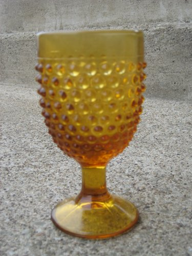Hobnail Glass Goblets Cast in a Rich Solid Amber Glass Made Here in Pa Amber Hobnail