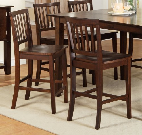 Branson Counter Height Dining Chair [Set of 2] Finish: Multi-Step Rich Espresso