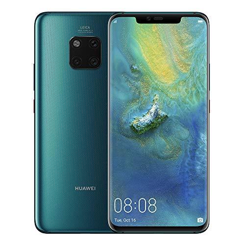 "Huawei Mate 20 Pro (128GB, 6GB RAM) 6.39"" Display, Leica Triple Camera, in-Screen Fingerprint, Global 4G LTE Dual SIM GSM Factory Unlocked LYA-L29 - International Model (Emerald Green)"