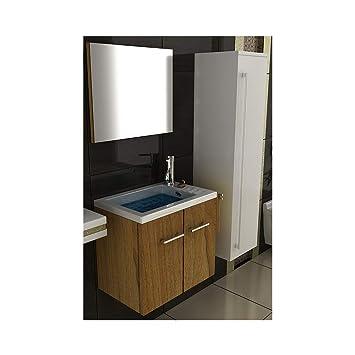 bad1a Becken mit Unterschrank und Spiegel Badezimmer Waschtisch ...