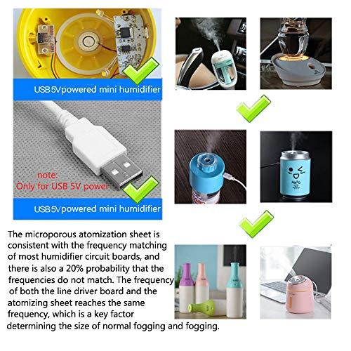 Comidox 2PCS Ultrasonic Mist Maker Transducer Fogger Ceramics Discs  Humidifier Diffuser Replacement Parts DIY Kits D16mm 113KHz DC 5V 300mA
