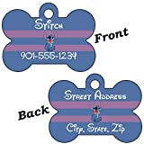 Disney Lilo & Stitch Double Sided Pet Id Dog Tags Personalized with 4 Lines of Text (Stitch)