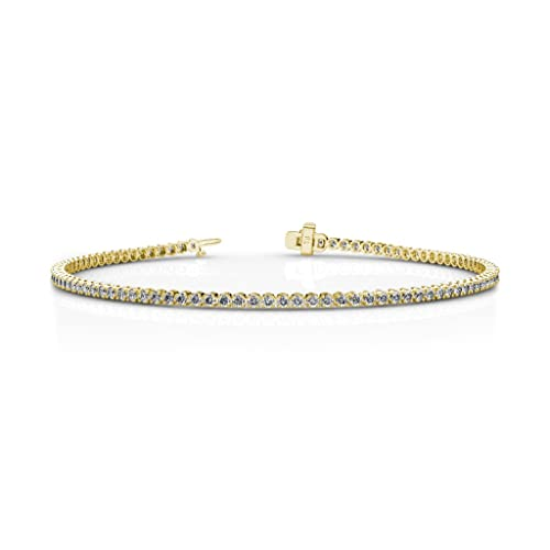 Plated Sterling Silver Gemstone and Diamond Accent Wave Bracelet, 7.25
