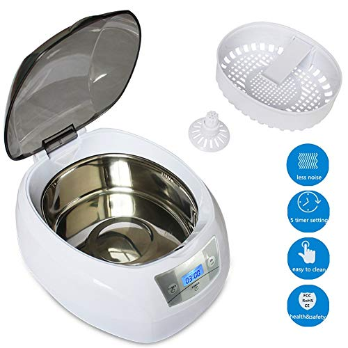 - Ultrasonic Cleaner Machine, Professional Jewelry Cleaner with Digital Timer for Jewelry, Eyeglasses, Watches, Rings, Necklaces, Coins, Razors, Dentures, Combs, 24oz/ 750mL Large Capacity