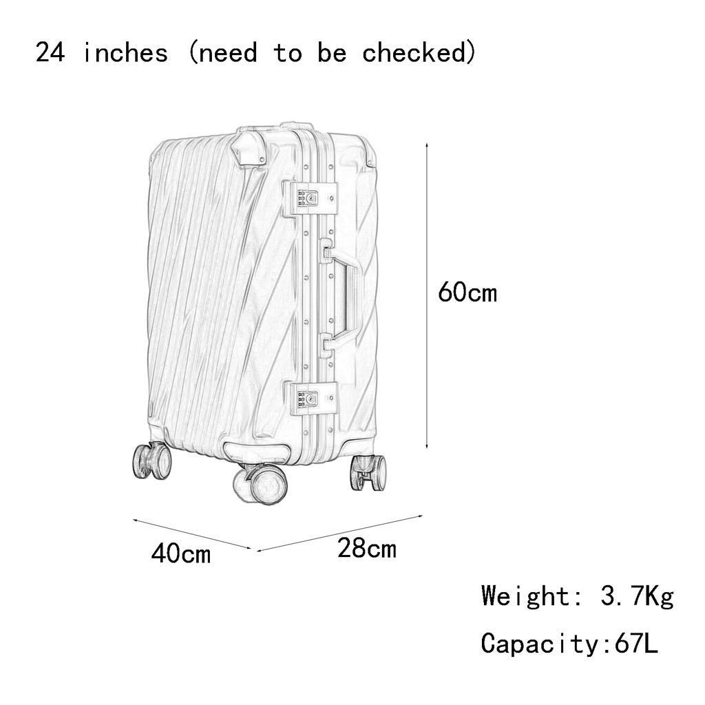 CLOUD Luggage Sets Travel Suitcase Color : Iron Gray, Size : 28 inches Male and Female Lightweight ABS Portable Consignment Suitcase Trolley Case Lock 4 Wheels